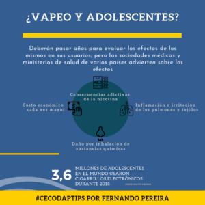 """En todo el mundo se debate sobre el impacto de los cigarrillos electrónicos. Son muchos los riesgos y peligros por lo que tenga la forma de juul, vapeador, pipa de agua o cualquier otro, debemos prevenir la iniciación temprana y consumo en nuestros niños y adolescentes porque constituyen vapores nada inocuos. """"A riesgo de sonar trillado, la mejor contribución el propio ejemplo que los adultos significativos podamos ofrecer"""", nos dice @fernandopereiraverano en su artículo """"Mamá, solo es un vapeo"""" publicado en @efecto.cocuyo"""