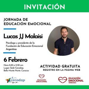 Lucas Malaisi en Cecodap con Fundacion educacion emocional