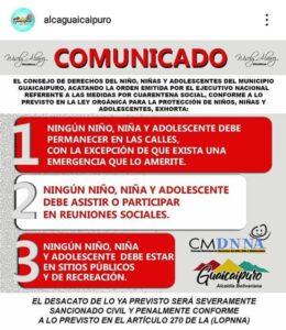 Comunicado de la Alcaldía de Guaicaipuro, estado Miranda